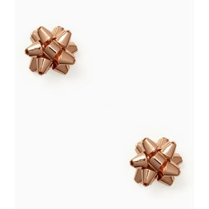 🆕Kate Spade Rose Gold Bow Stud Earrings NWT